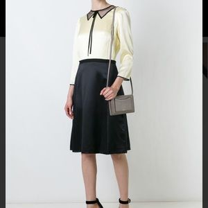 NWT MarcJacobs black color block silk A line dress